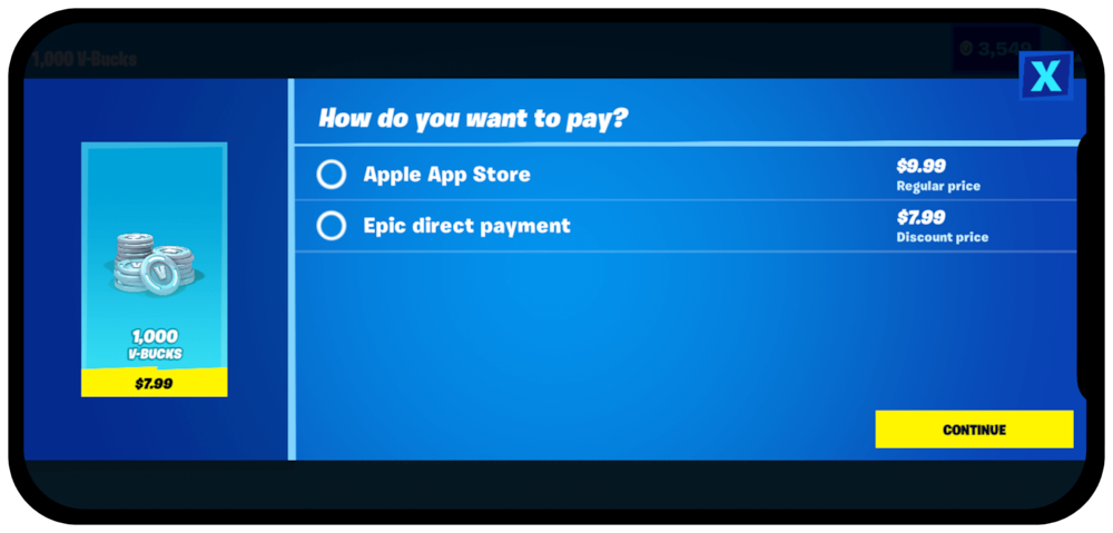 epic-direct-pay-apple-app-store