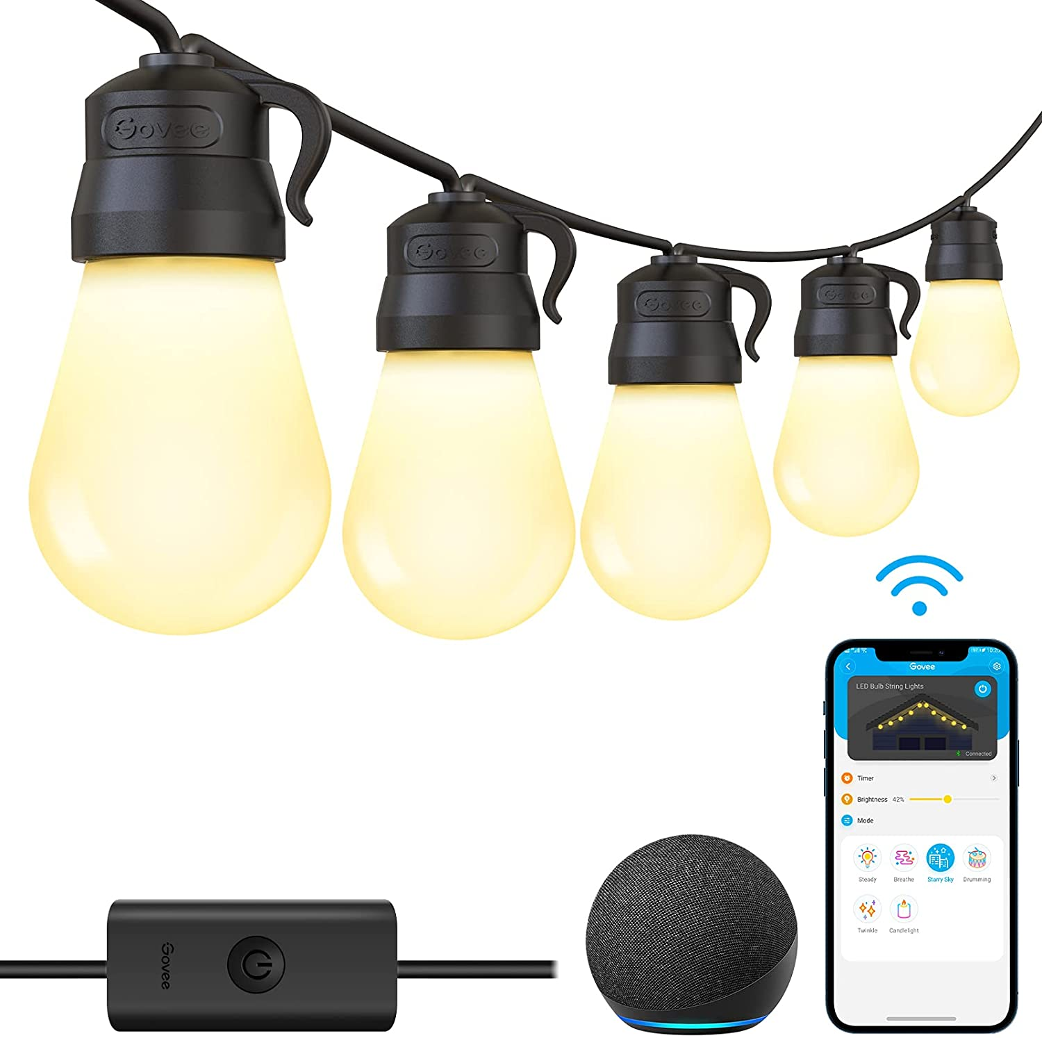Govee 48ft Smart Wi-Fi Outdoor String Lights